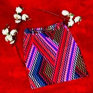Etcetera Pink & Purple Pencil Skirt Size 00
